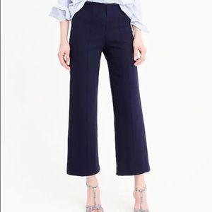 J.CREW Navy Wide Leg Cropp Dress Pants